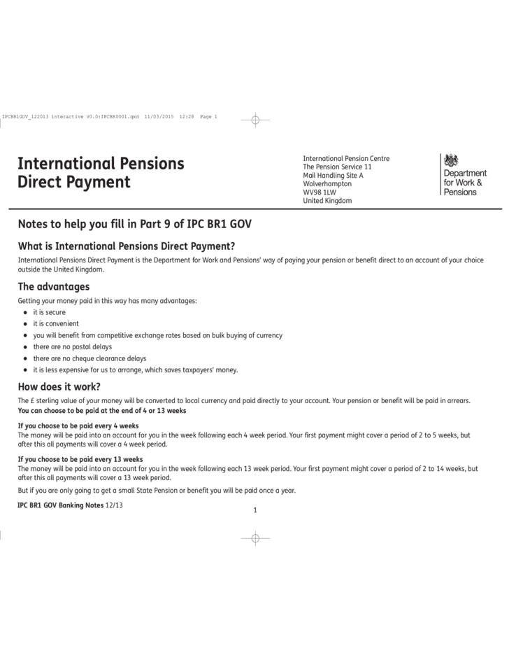 The Pension Service Claim Form - England Free Download