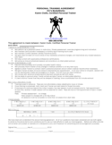 Personal Training Agreement Template Free Download