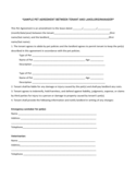 Sample Pet Agreement between Tenant and Landlord/Manager Free Download