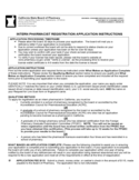 Intern Pharmacist Registration Application Instructions - California Free Download