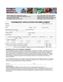 Pharmacy Application for Employment Free Download