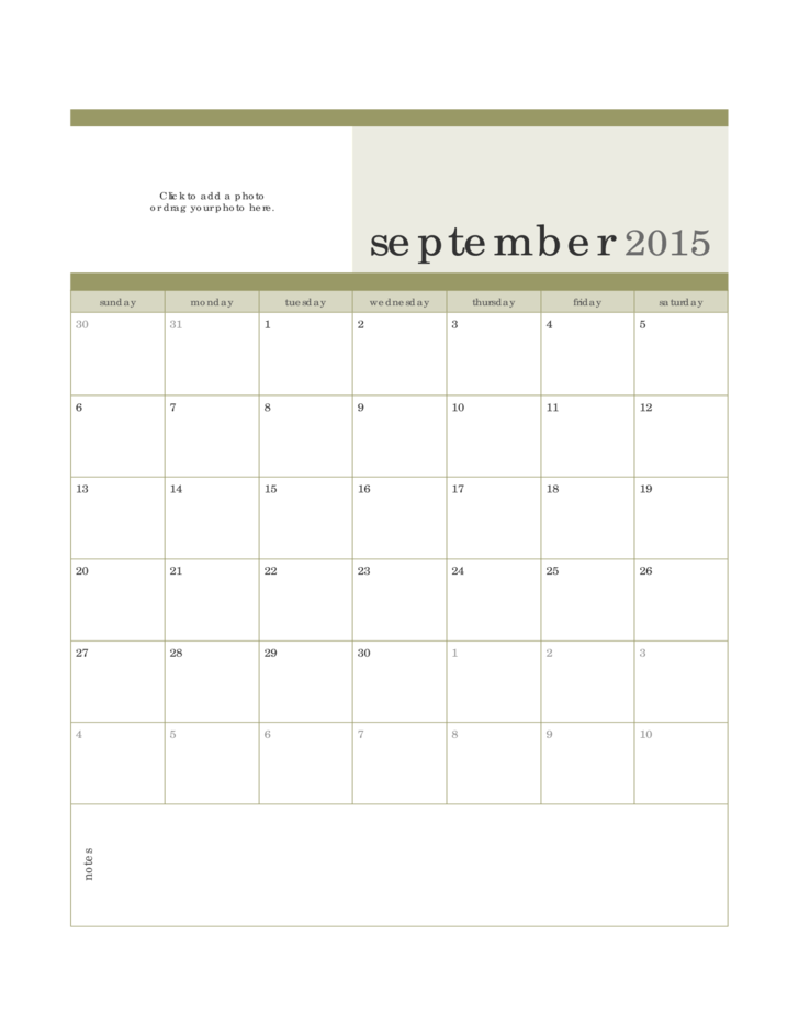 4 month calendar template 2015 - 2015 monthly photo calendar template free download