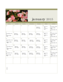 2015 Monthly Photo Calendar Template Free Download