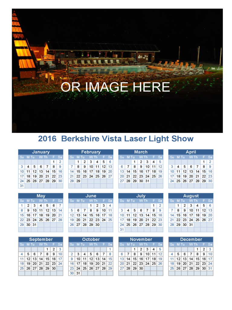 2016 Yearly Photo Calendar Template
