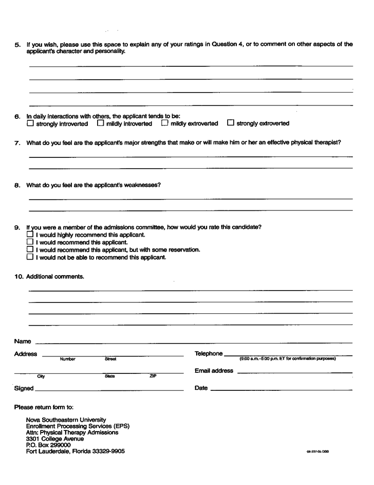 physical therapy evaluation form