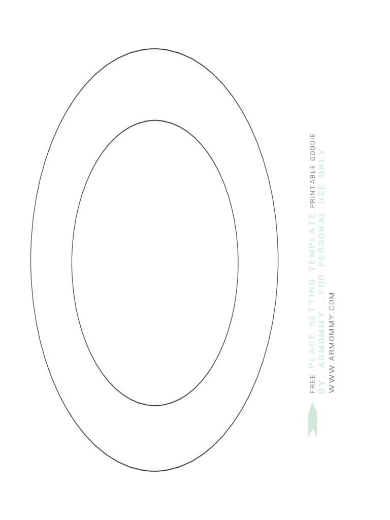 place setting template