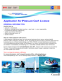 Application for Pleasure Craft Licence - Canada Free Download