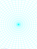Polar Graph Paper with 7.5 Degree Angles and 1/2-Inch Radials on Letter-Sized Paper