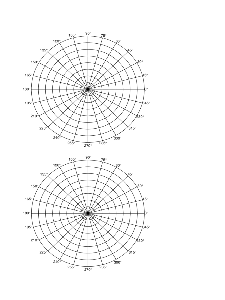 Polar Coordinate Graph Paper Free Download  Graph Paper Word Document