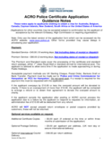 Police Certificate Application Form Free Download