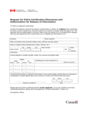Request for Police Certificates/Clearances and Authorization for Release of Information Free Download