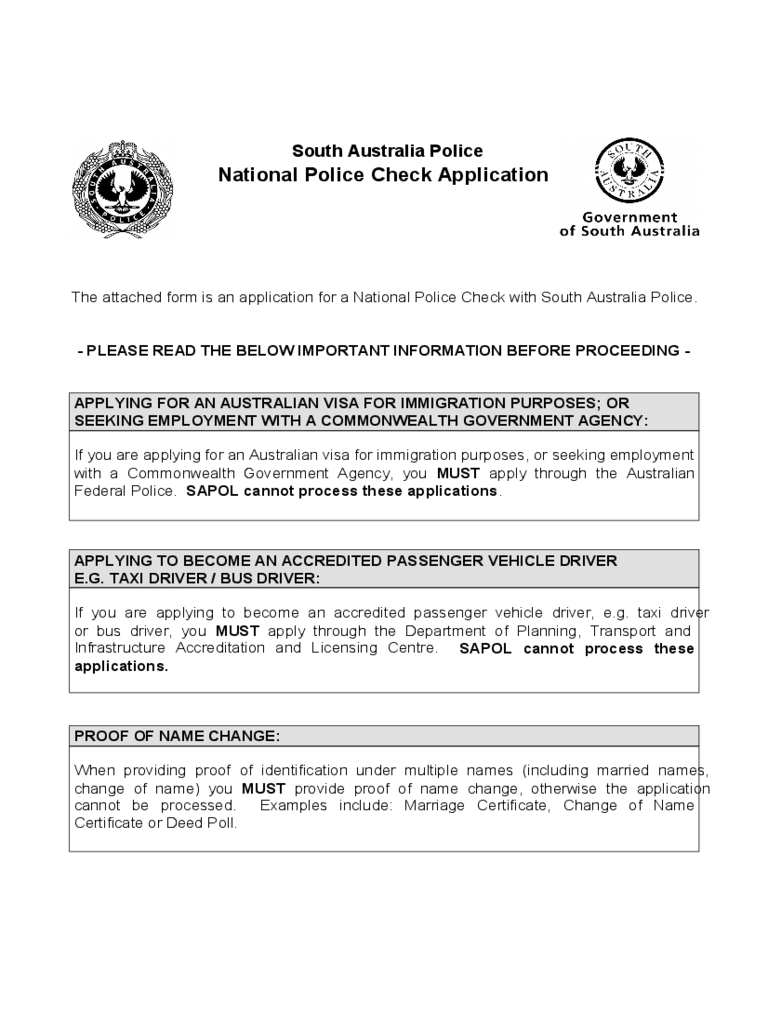 Afp Police Check Form Pdf