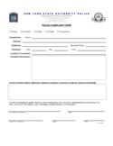 Police Complaint Form - State University of New York Free Download