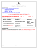 Voluntary Disclosure Form - Victoria Police Free Download