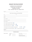 Police Report Form - Clarkdale Free Download