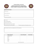Post Event Evaluation Form - Florida Free Download