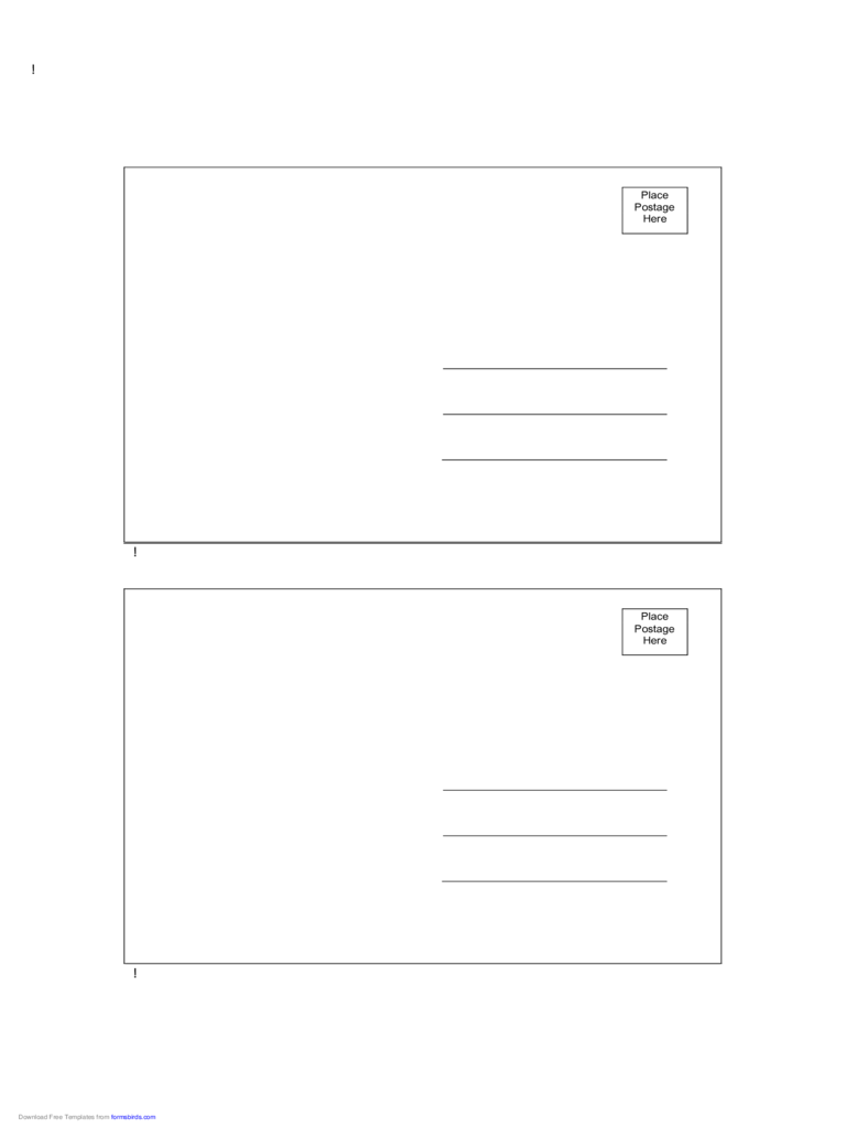 Postcard Back Template 10 Free Templates In Pdf Word