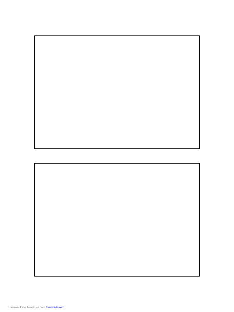 Postcard Template - 4x6 Inches
