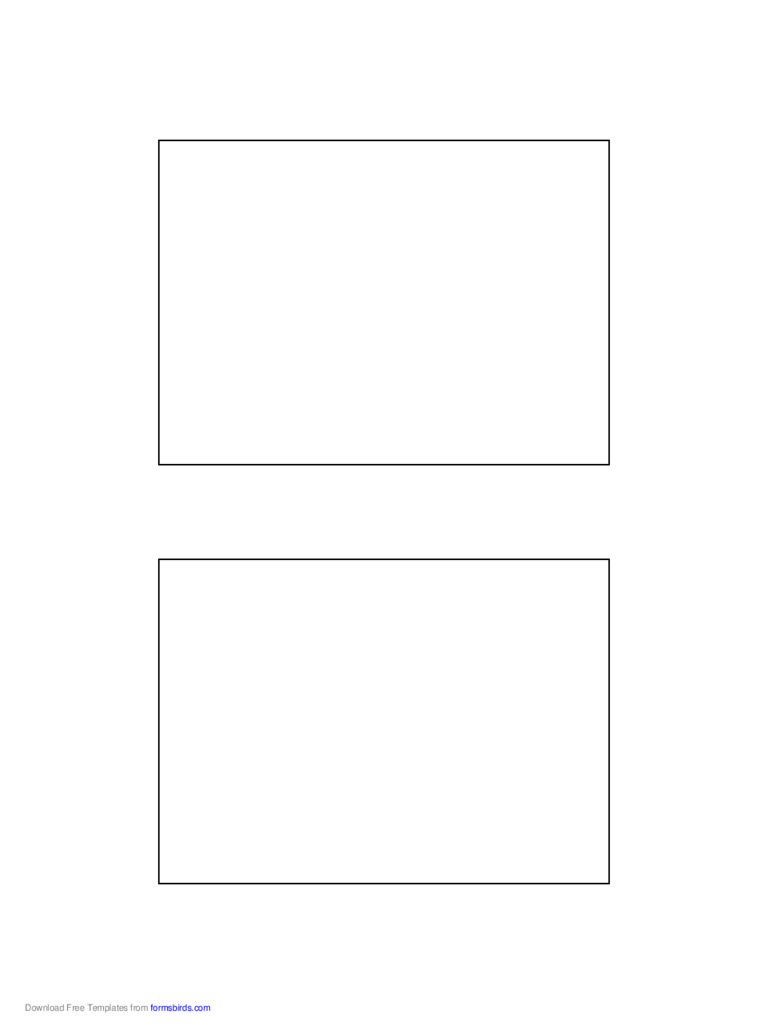 Postcard Template - 3.5x5 Inches