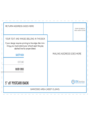 5 and 8 Postcard Back Template Free Download