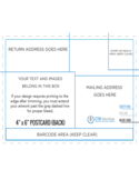 4 and 6 Postcard Back Template Free Download