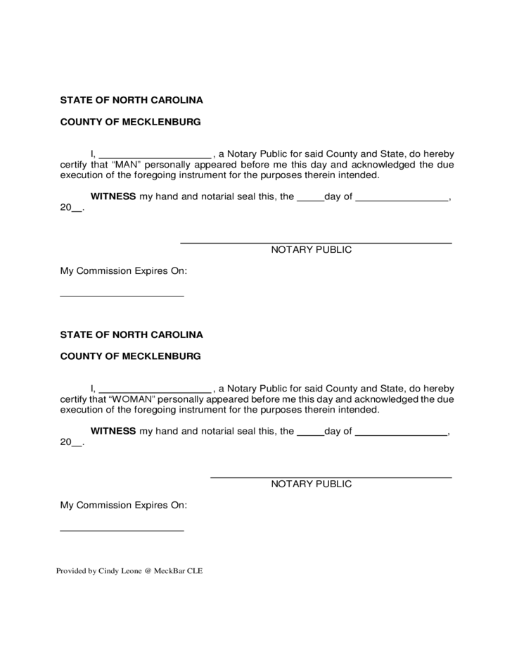Postnuptial agreement north carolina free download for Party wall agreement