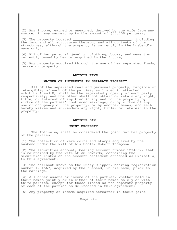 Postnuptial Agreement New Jersey Free Download