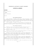 Postnuptial Agreement - New Jersey Free Download