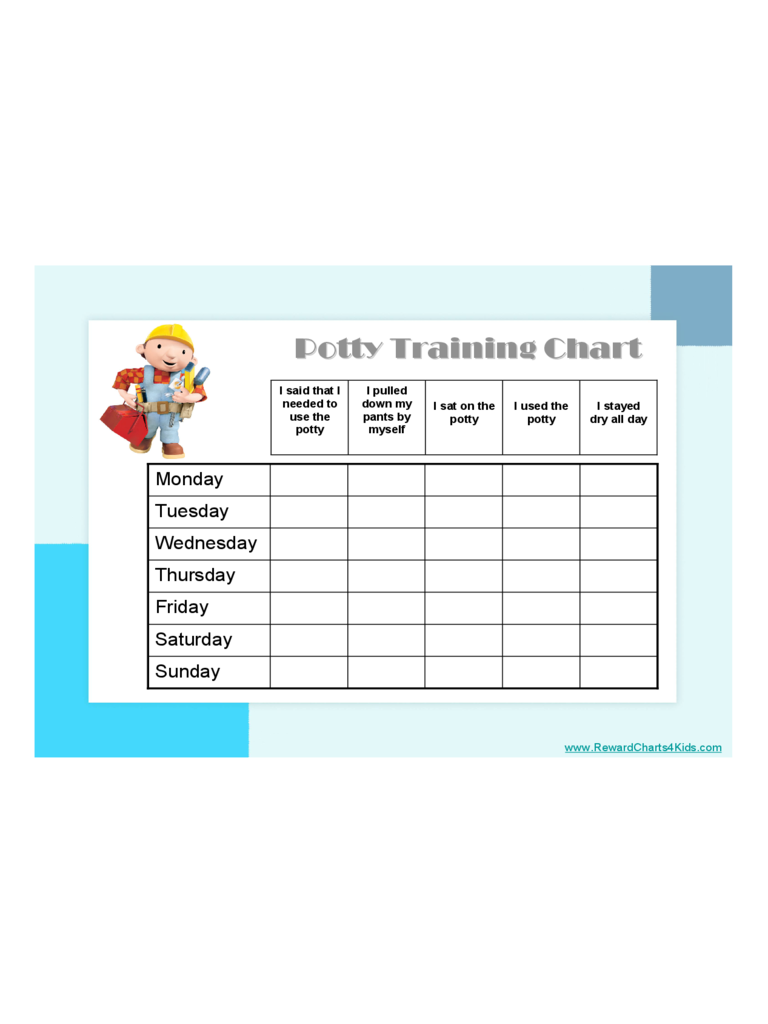 Potty Training Chart 4 Free Templates In Pdf Word Excel Download