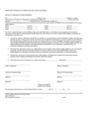 Temporary Power of Attorney for the Care of Children - Florida Free Download