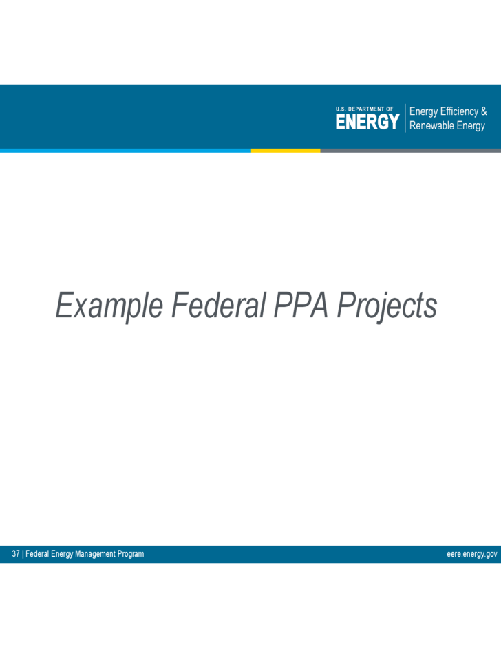 Sample Power Purchase Agreements