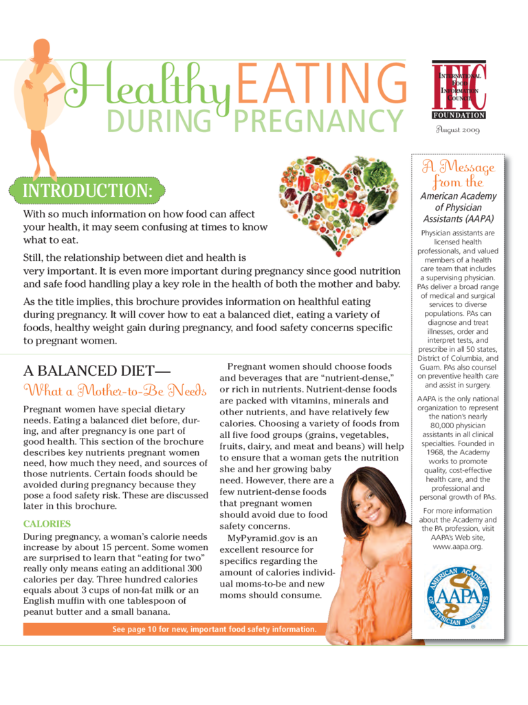 Healthy Eating during Pregnancy Free Download