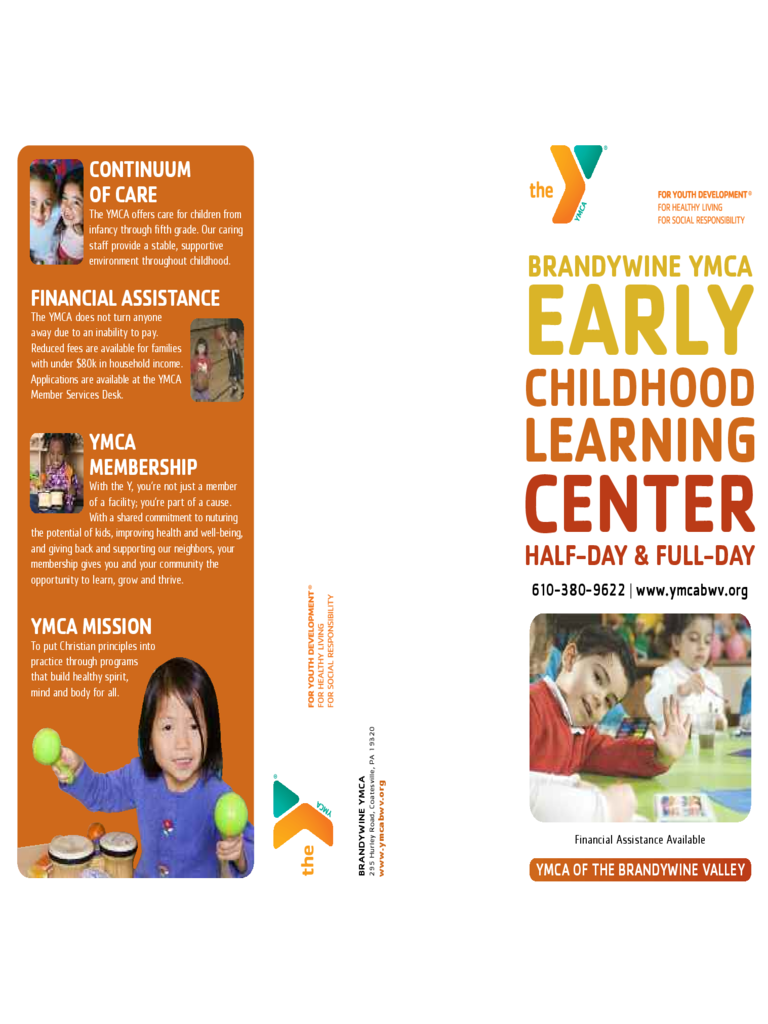 Basic Preschool Brochure Template