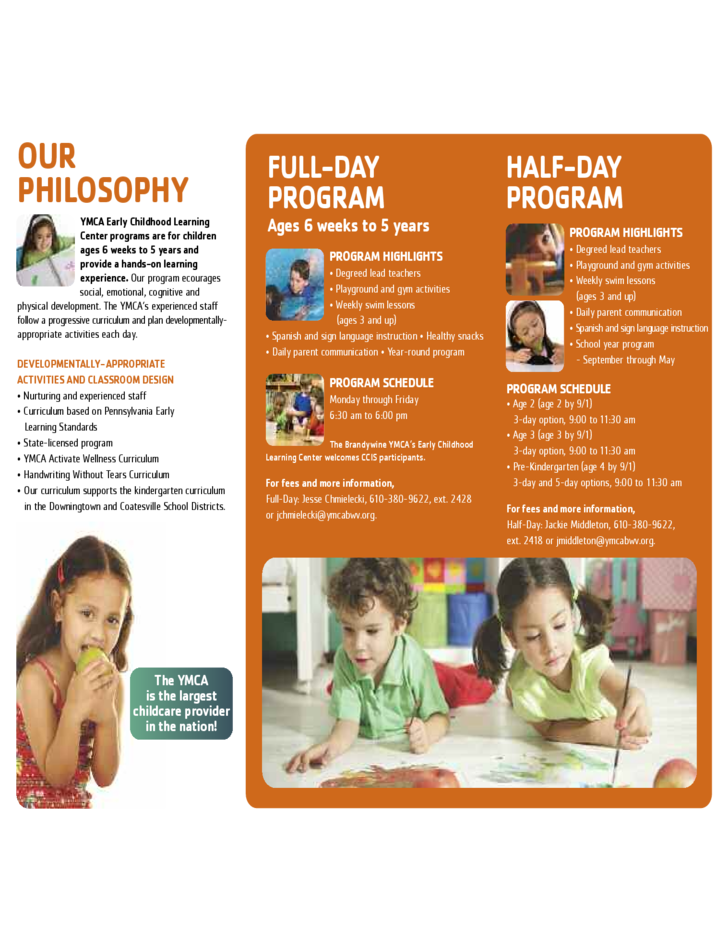 Preschool Brochure Template Insssrenterprisesco - School brochure template free