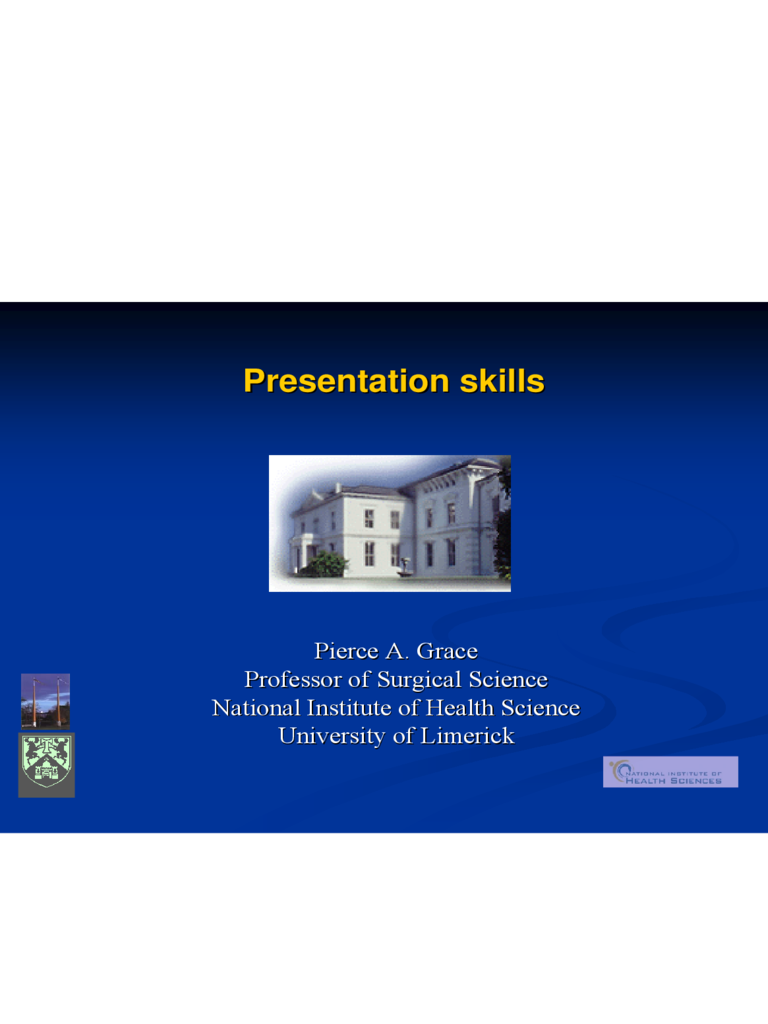 Sample Presentation Skills PPT