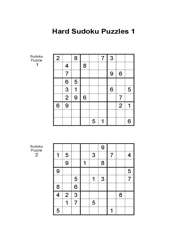 graphic about Sudoku Printable Pdf identified as Printable Sudoku Demanding