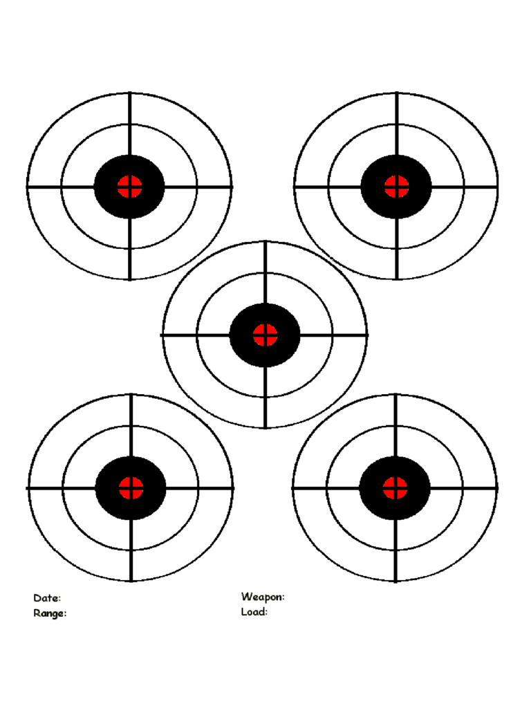 Printable targets 9 free templates in pdf word excel for Bullseye chart template