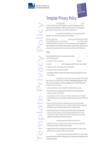 Template Privacy Policy Free Download