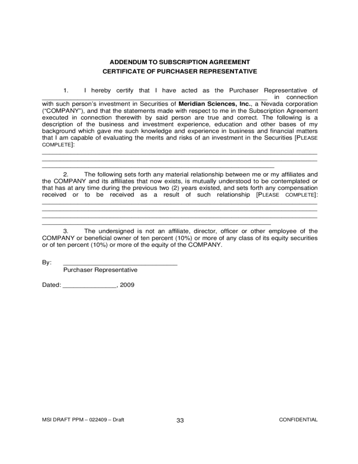 Confidential Private Placement Memorandum Free Download