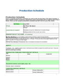 Production Schedule - United Kingdom Free Download