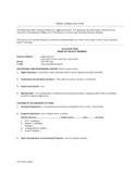 MODEL CURRICULUM VITAE - University of Iowa Free Download