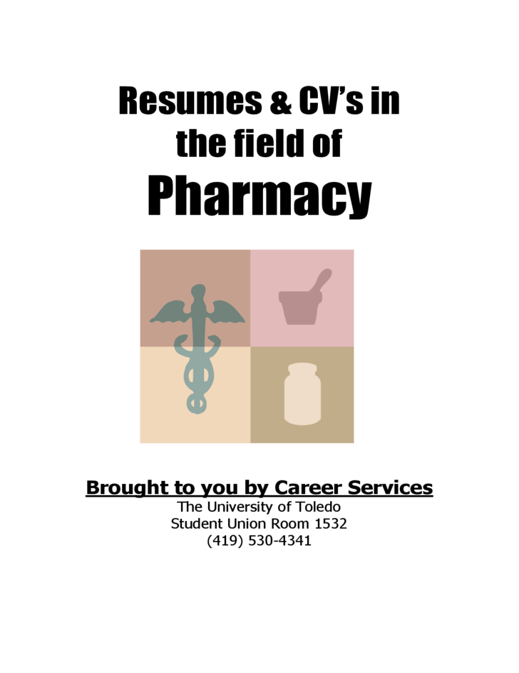 Resume in the Field of Pharmacy