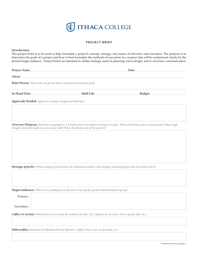 Project Brief Template - 4 Free Templates in PDF, Word, Excel Download