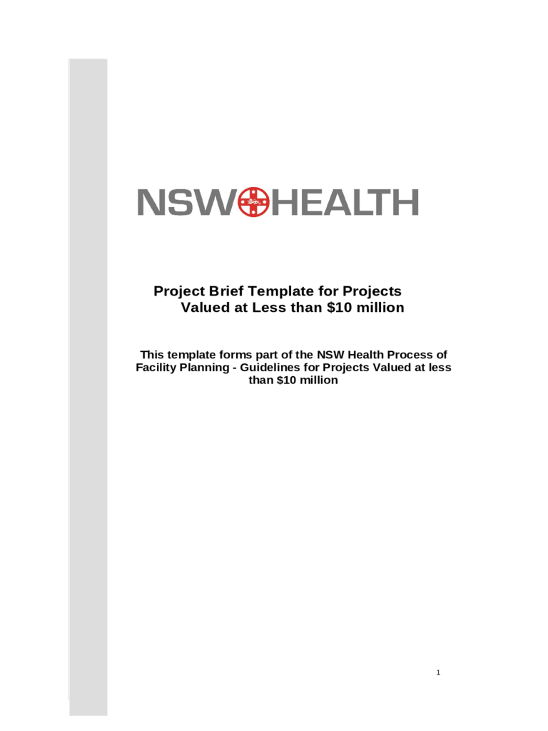 Project Brief Template 4 Free Templates in PDF Word Excel Download – Project Brief Template