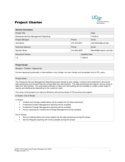 Project Charter Template - University of California