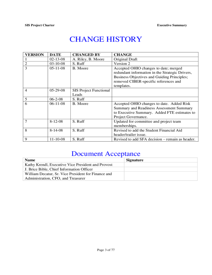 one page project charter template - project charter ohio university free download