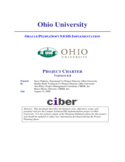 Project Charter - Ohio University Free Download