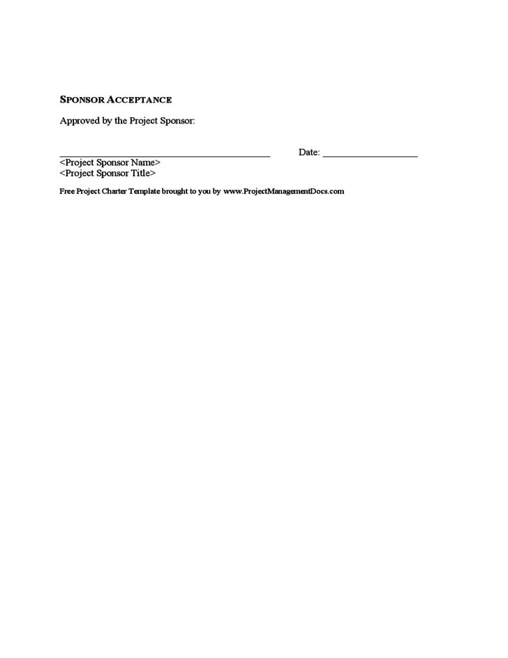 one page project charter template - sample project charter free download