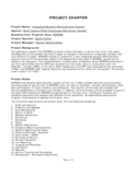 Project Charter - State of North Dakota Free Download