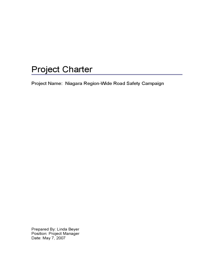 project charter of construction project